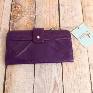 NWT purple genuine leather wallet